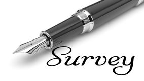 Survey. Word Survey written with fountain pen Royalty Free Stock Photo