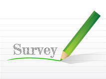 Word survey written on a notepad paper. Royalty Free Stock Images
