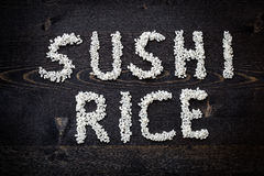 Word sushi rice Stock Images