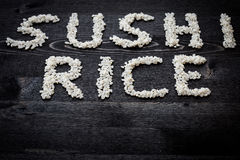 Word sushi rice Royalty Free Stock Images