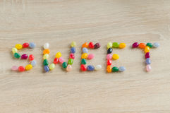 Word sweet from jelly beans Stock Photography