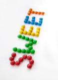 The word sweet, made from colored candies Stock Image