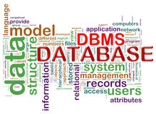 Word tags of dbms Stock Images