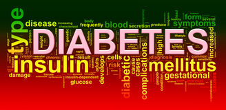 Word tags of diabetes. Illustration of diabetes word tags wordcloud Stock Photos