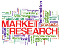 Word tags market research Stock Photos