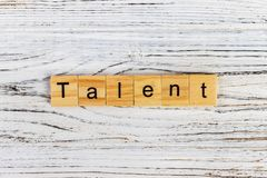 The word of TALENT on wooden cubes.  royalty free stock photo