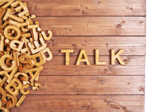 Word talk made with wooden letters Stock Photos