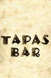 Word tapas bar 9 Stock Photos