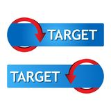 Word target with arrow vector . Vector illustration on white background. EPS file available. see more images related vector illustration