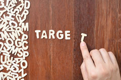 Word target made with block wooden letters Stock Image