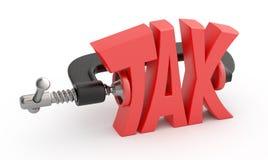 Word tax hamstrung. stock illustration