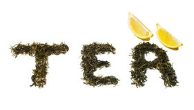Word tea Royalty Free Stock Photography