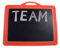The word 'Team'. Written on a board. Space to enter team names Royalty Free Stock Photos