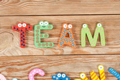 Word TEAM letters Stock Images