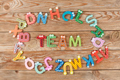 Word TEAM letters Royalty Free Stock Photos