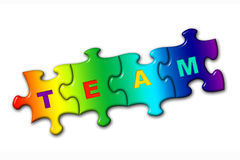 Word Team from puzzles Royalty Free Stock Photography