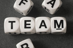 Word team on toy cubes Royalty Free Stock Photos
