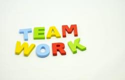 Word team work on white background royalty free stock photos