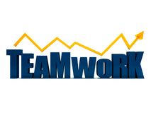 Word teamwork in 3D Stock Images