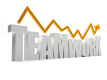 Word teamwork in 3D isolated Royalty Free Stock Photography