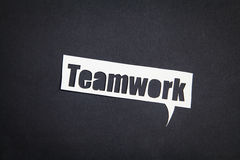 The word Teamwork in speech bubble Royalty Free Stock Photo