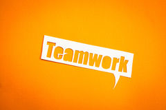 The word Teamwork in speech bubble Royalty Free Stock Photography