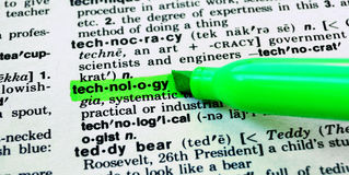 The Word Technology Stock Image