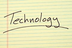 Technology On A Yellow Legal Pad Royalty Free Stock Image