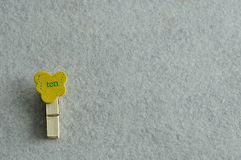The word ten on a colorful peg. On a white background stock photography