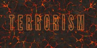 Word terrorisme op gevaars rode lava die wordt geschreven vector illustratie