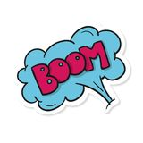 Word Text Blue Boom Vector Image Royalty Free Stock Photography