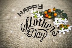 Happy mothers day card royalty free stock images