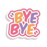 Word Text Rainbow Bye Vector Image Stock Photography