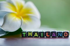 Word Thailand is made of multicolored letters Tourism. Rest, resort, sea, sun, beach Royalty Free Stock Photo
