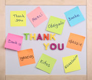 The word thank you Stock Images