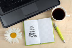 Word Thanks Royalty Free Stock Photography