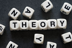 Word theory on toy cubes Royalty Free Stock Photo