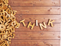 Word think made with wooden letters Stock Photography