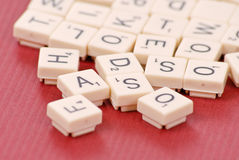 Word Tiles Stock Image