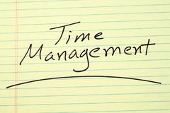 Time Management On A Yellow Legal Pad Stock Photos
