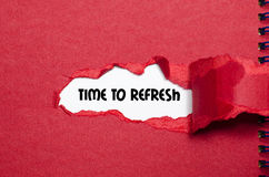 The word time to refresh Royalty Free Stock Image