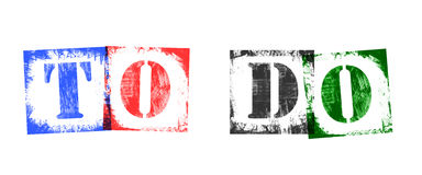Word To Do from Stamp Letters, Retro Grunge Design Royalty Free Stock Image