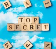 The word top secret Royalty Free Stock Photos