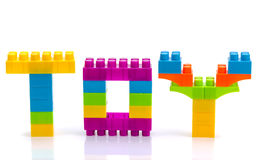 Word toy isolated. Word toy from toy blocks isolated stock images