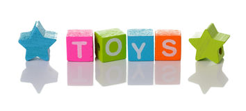 Word toys with colorful cubes Royalty Free Stock Images