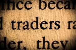 Word trader royalty free stock images
