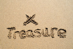 The word treasure. stock photography