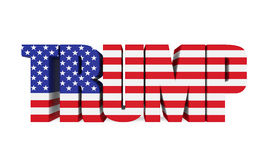 Word `TRUMP` with United States Flag Royalty Free Stock Images