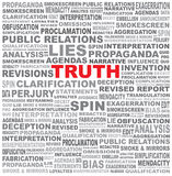 The word TRUTH hidden in a field of text Stock Photo