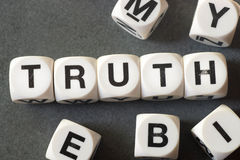 Word truth on toy cubes Royalty Free Stock Photo